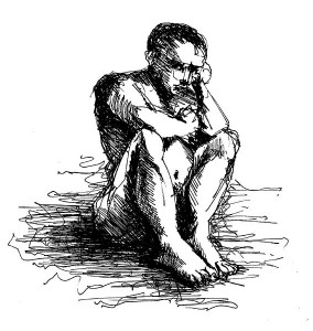 http://commons.wikimedia.org/wiki/File:Deep_Thinking_by_Wissam_Shekhani,_ink_on_paper.JPG