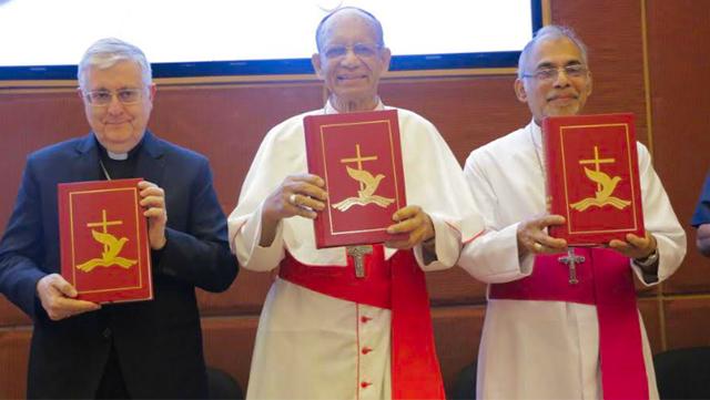 Archbishop Giambattista Diquattro (apostolic nuncio), Cardinal Oswald Gracias, Archbishop Filipe Neri Ferrão